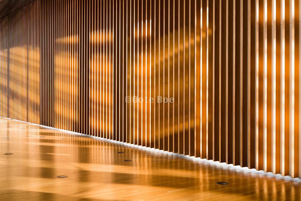 bright sunlit corridor at the National Art Center, Tokyo in roppongi