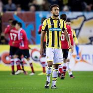 ARNHEM, Vitesse - PSV, voetbal, Eredivisie, seizoen 2016-2017, 29-10--2016, Stadion De Gelredome, teleurstelling bij Vitesse speler Lewis Baker (M) na de 0-2 van PSV.
