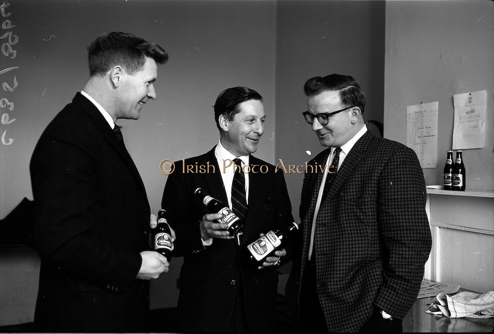 """25/03/1966<br /> 03/25/1966<br /> 25 March 1966<br /> Beamish and Crawford introduce """"Celebration"""" Ale at Beamish and Crawford, James Street, Dublin."""