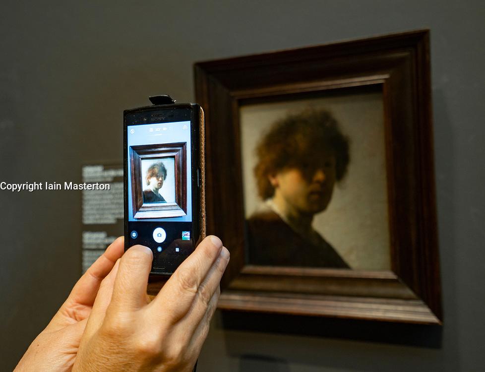 Self portrait of Rembrandt van Rijn  at Rijksmuseum in Amsterdam the Netherlands