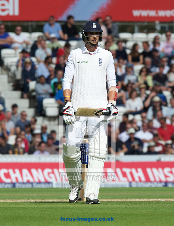 Steven Finn of England during the 5th Investec Ashes Test match at the Kia Oval, London<br /> Picture by Alan Stanford/Focus Images Ltd +44 7915 056117<br /> 23/08/2015