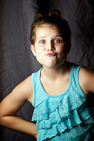 Rheana helping me test out my new Einstein studio strobes in the living room Wednesday, October 12, 2011.