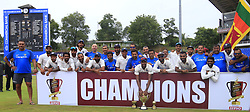 August 14, 2017 - Colombo, Sri Lanka - Indian team pose for a group photograph after defeating Sri Lanka in the 3rd Test match to white wash the Test series 3-0 after the 3rd Day's play in the 3rd and final Test match between Sri Lanka and India at the Pallekele international cricket stadium at Kandy, Sri Lanka on MOnday 14 August 2017. (Credit Image: © Tharaka Basnayaka/NurPhoto via ZUMA Press)