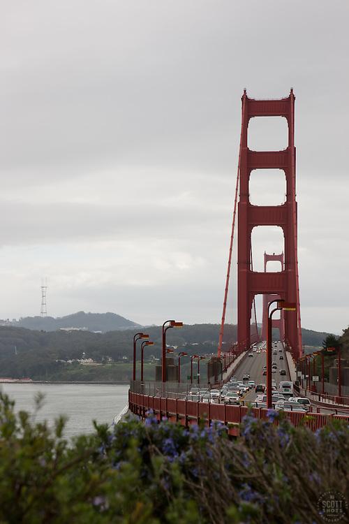 """""""Golden Gate Bridge 3"""" - Photograph of San Francisco's famous Golden Gate Bridge."""