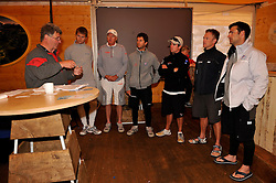 The draw for the quarter finals is made at skippers briefing. Photo: Chris Davies/WMRT