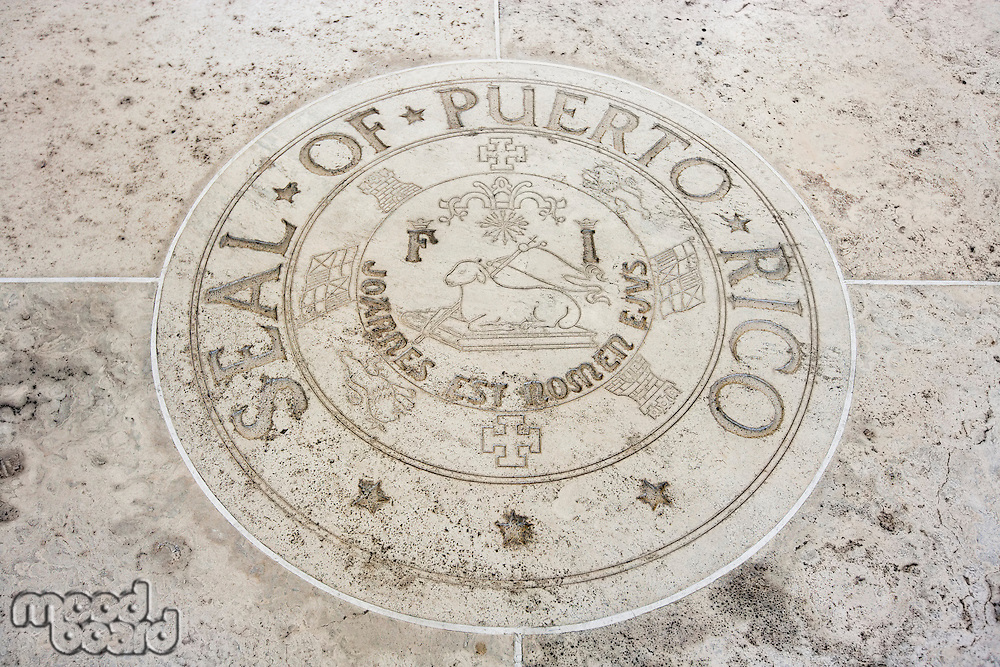 Seal of Puerto Rico in Fort Bonifacio; Manila; Philippines