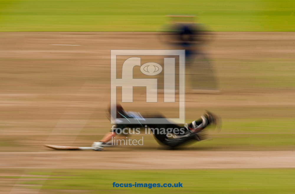 Rory Burns of Surrey CCC dives to beat the run out during the Royal London One Day Cup Final match at Lord's, London<br /> Picture by Jack Megaw/Focus Images Ltd +44 7481 764811<br /> 19/09/2015