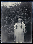 young girl portrait France 1933