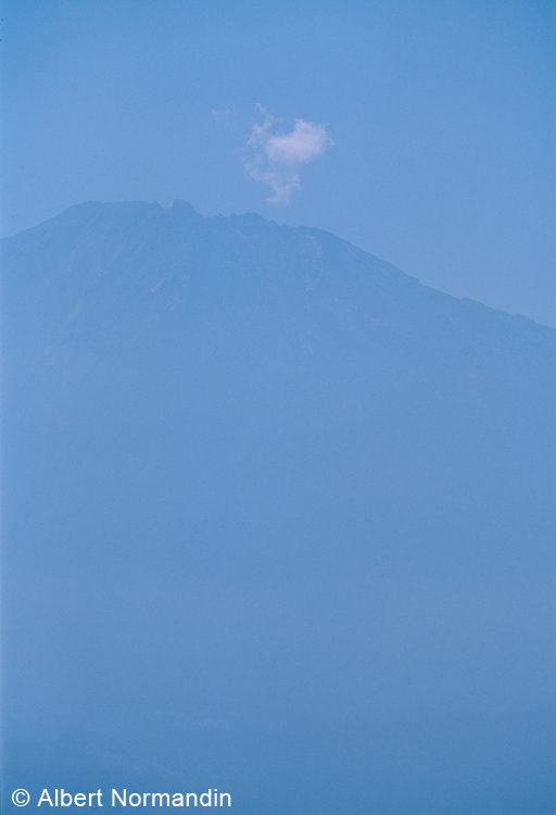 Cloud over top of Mount Meru