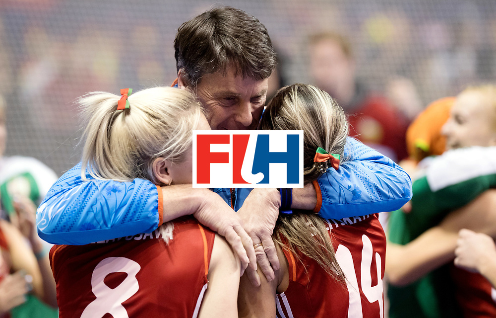 BERLIN - Indoor Hockey World Cup<br /> Bronze: Ukraine - Belarus<br /> foto: Herman Kruis.<br /> WORLDSPORTPICS COPYRIGHT FRANK UIJLENBROEK