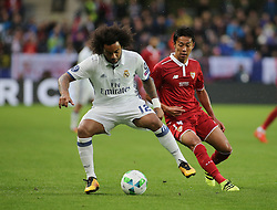 August 9, 2016 - Trondheim, Norway - Marcelo during the UEFA Super Cup match between Real Madrid and Sevilla FC at the Lerkendal Stadion in Trondheim, Norway on August 09, 2016. (Credit Image: © Raddad Jebarah/NurPhoto via ZUMA Press)