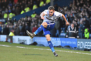 Bury Defender, Chris Hussey in action during the The FA Cup fourth round match between Bury and Hull City at Gigg Lane, Bury, England on 30 January 2016. Photo by Mark Pollitt.