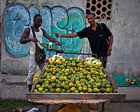 Lime (Sour Oranges) Vendor. Morning Walkabout in Old Havana. Image taken with a Leica T camera and 23 mm f/2 camera.