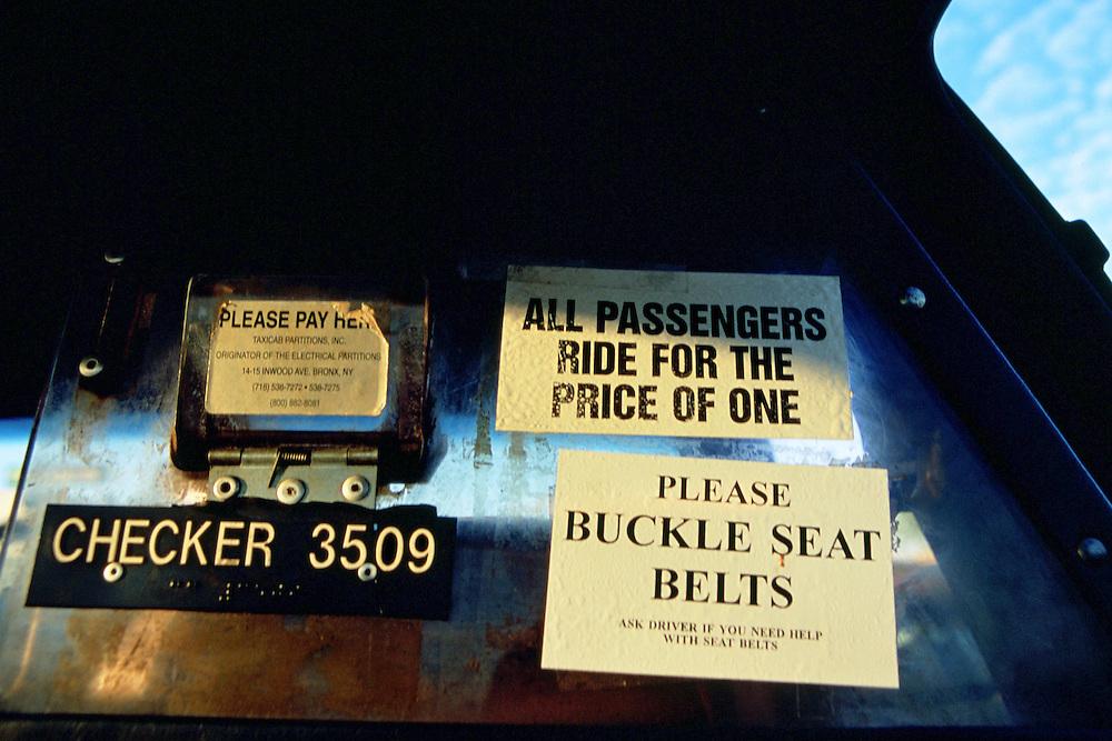 Taxi in Los Angeles, CA.