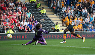 Mohamed Diame of Hull City scores his team's 4th goal to make it 4-1 during the Sky Bet Championship match at KC Stadium, Hull<br /> Picture by Russell Hart/Focus Images Ltd 07791 688 420<br /> 07/05/2016