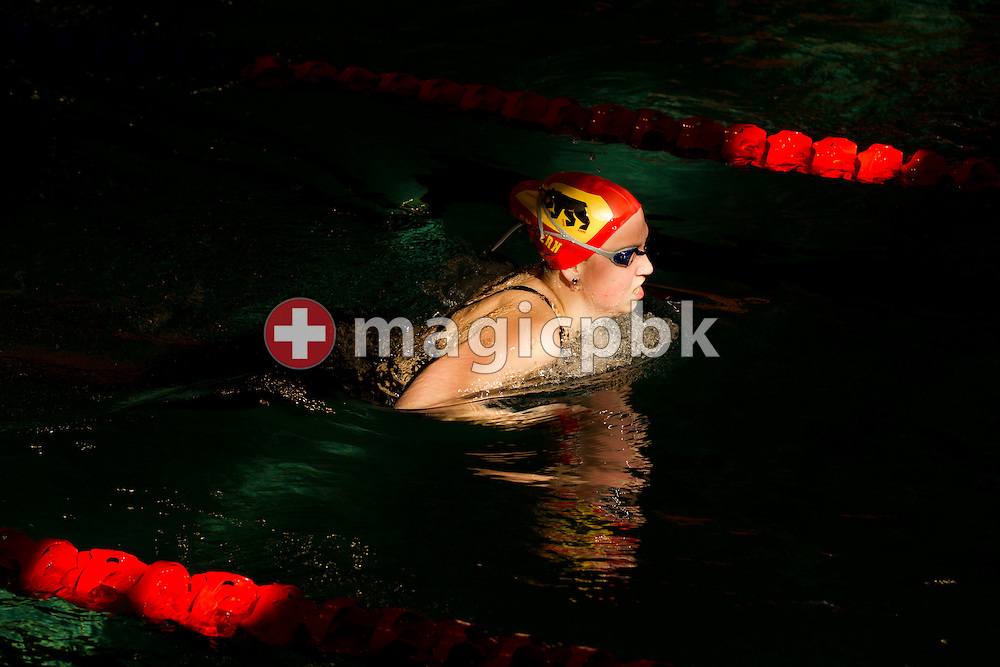 SK Bern's Nina BOLZLI of Switzerland swims the breaststroke leg in the women's 400m Individual Medley (IM) Heats during the Swiss Swimming Championships at the Hallenbad Oerlikon in Zurich, Switzerland, Saturday, March 17, 2012. (Photo by Patrick B. Kraemer / MAGICPBK)