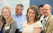 Jennifer Robinson, center, laughs during the Cutler Scholar Luncheon.