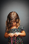 Portait of a young girl.<br />