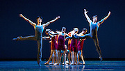 Concerto <br /> The Mariinsky Ballet Triple Bill <br /> at the Royal Opera House, Covent Garden, London, Great Britain <br /> 11th August 2014 <br /> <br /> Concerto <br /> by Alexei Ratmansky <br /> <br /> Viktoria Tereshkina<br /> Andrei Yermakov <br /> and company <br /> <br /> <br /> Photograph by Elliott Franks <br /> Image licensed to Elliott Franks Photography Services