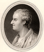 Thomas Gray (1716-1771) English poet and classical scholar. Engraving, London, 1837.