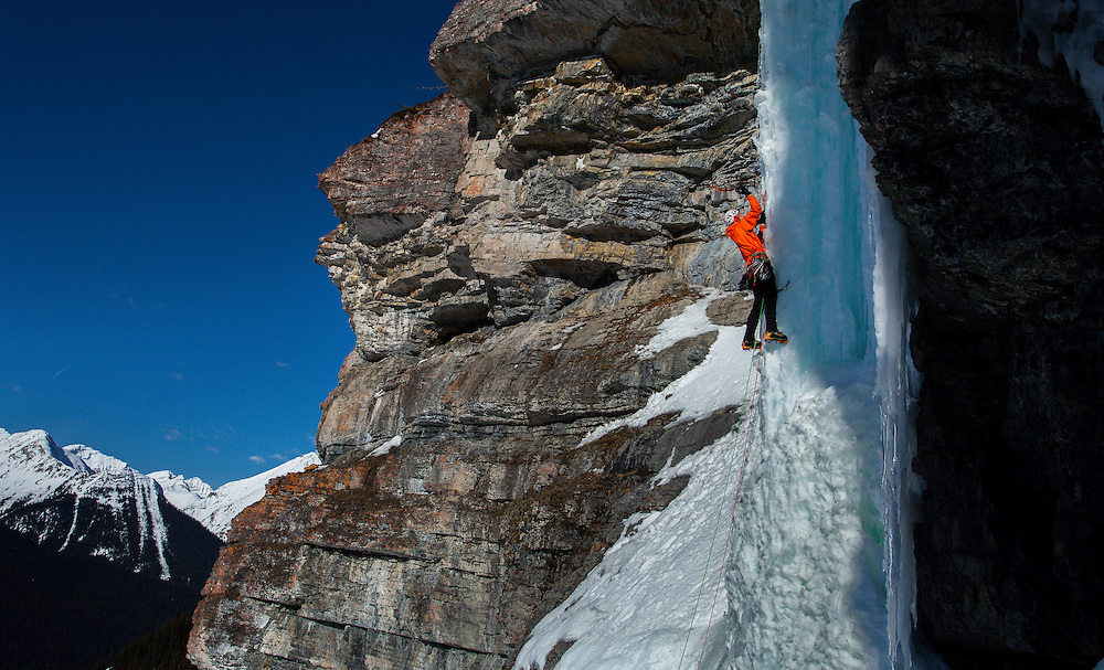 Maury Ice Climbing Pass Too Far - Kananaskis - First Ascent