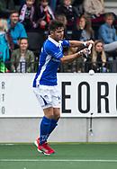 AMSTELVEEN - Robbert Kemperman (Kampong) tijdens  de  eerste finalewedstrijd van de play-offs om de landtitel in het Wagener Stadion, tussen Amsterdam en Kampong (1-1). Kampong wint de shoot outs.   COPYRIGHT KOEN SUYK