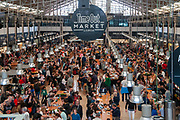 Time Out Market Lisboa is a food hall located in the Mercado da Ribeira, Lisbon, Portugal