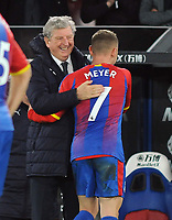 Football - 2018 / 2019 Premier League - Crystal Palace vs. Burnley<br /> <br /> Palace Manager, Roy Hodgson congratulates Max Meyer as he comes off the pitch, at Selhurst Park.<br /> <br /> COLORSPORT/ANDREW COWIE