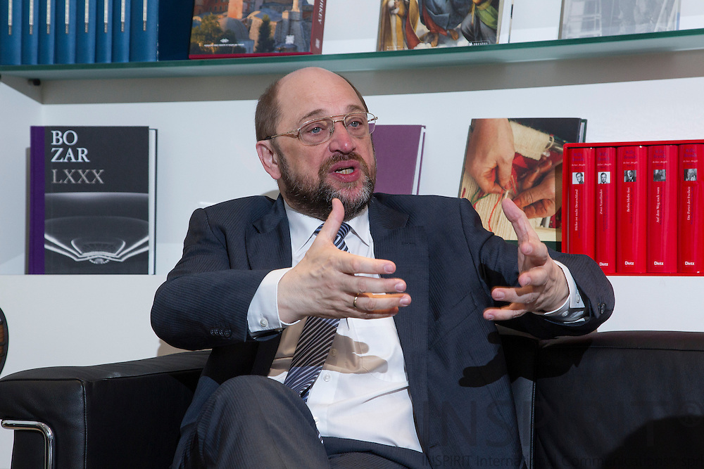 Martin Schulz, European Parliament President, photographed in office, Brussels 6 March 2013. Photo: Erik Luntang