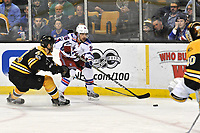 Boston Ma March 02 New York Rangers Right Wing Mats Zuccarello 36 tries to Skate Past Boston Bruins defenceman Colin Miller 6 with The Puck during The New York Rangers Game Against The Boston Bruins ON March 2 2017 AT TD Bank Garden in Boston Ma Photo by Michael Tureski Icon Sports Wire NHL Ice hockey men USA Mar 02 Rangers AT Bruins <br /> Norway only<br /> KUN STYKKPRIS