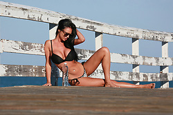 International Playmate of the Year Charlie Riina shows off her sexy bikini body while shooting an advert to promote the launch of 138 Water on Amazon, 02/25/19. 25 Feb 2019 Pictured: Charlie Riina. Photo credit: FIA Pictures / MEGA TheMegaAgency.com +1 888 505 6342