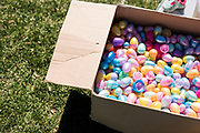 Hundreds of plastic Easter egg shells are boxed up following the 21st Annual Easter Egg Hunt at Winnequah Park in Monona, WI on Saturday, April 20, 2019.