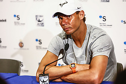 April 23, 2018 - Barcelona, Spain - Rafael Nadal during the Barcelona Open Banc Sabadell 66º Trofeo Conde de Godo press conference at Reial Club Tenis Barcelona on 23 of April of 2018 in Barcelona. (Credit Image: © Xavier Bonilla/NurPhoto via ZUMA Press)