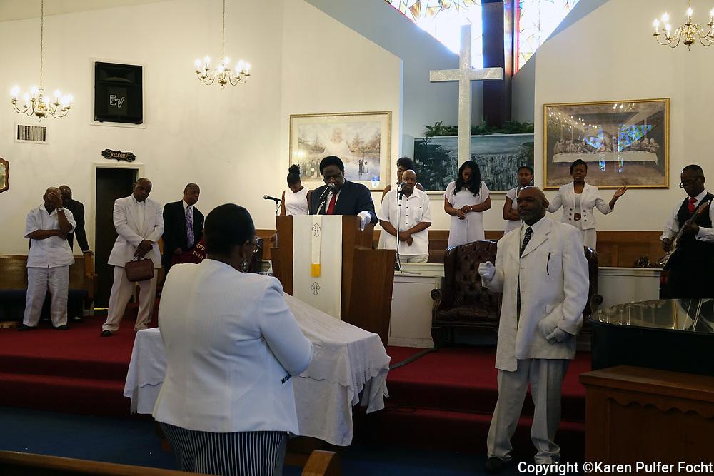 Rev. Al Green, in his church in Memphis, Tennessee