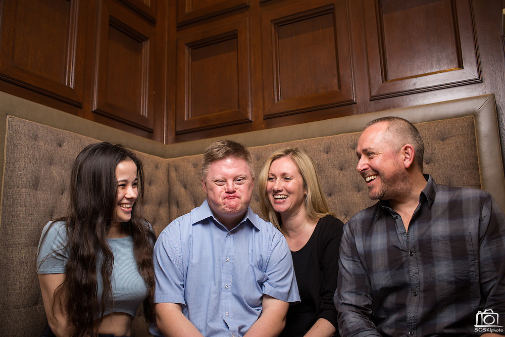 My Feral Heart actors Pixie Le Knot and Steven Brandon, director Jane Gull, and producer James Rumsey pose for a portrait at The Westin San Jose in San Jose, California, on March 3, 2016. (Stan Olszewski/SOSKIphoto)