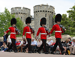 Guards at the Order of the Garter service at Windsor Castle, Monday, 18th June 2012  Photo by: Stephen Lock / i-Images
