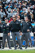 Oakland Raiders head coach Jack Del Rio watches from the sideline during a NFL game against the Carolina Panthers at Oakland Coliseum in Oakland, Calif., on November 27, 2016. (Stan Olszewski/Special to S.F. Examiner)