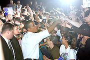 BARACK OBAMA RALLIES NY AT WASHINGTON SQUARE PARK