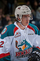 KELOWNA, CANADA - MARCH 1: James Hilsendager #2 of the Kelowna Rockets stands on the ice against the Prince George Cougars on MARCH 1, 2017 at Prospera Place in Kelowna, British Columbia, Canada.  (Photo by Marissa Baecker/Shoot the Breeze)  *** Local Caption ***