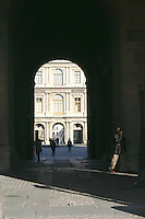 Archway at the Louvre, Paris, France<br />