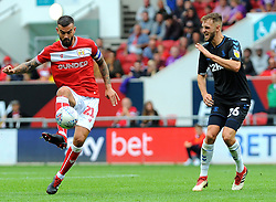 Marlon Pack of Bristol City competes with Lewis Wing of Middlesbrough- Mandatory by-line: Nizaam Jones/JMP- 18/08/2018 - FOOTBALL - Ashton Gate Stadium - Bristol, England - Bristol City v Middlesbrough - Sky Bet Championship