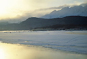 Winter, Ice, Snow, Cold, Mountains, Peaks, Reflection, Haines, Alaska