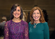 Hempstead, New York, USA. January 1, 2018. L-R, Hempstead Town Clerk SYLVIA CABANA and New York State Lt. Governor KATHY HOCHU pose shortly before the Swearing-In ceremony of CABANA and of Laura Gillen as Hempstead Town Supervisor, at Hofstra University.