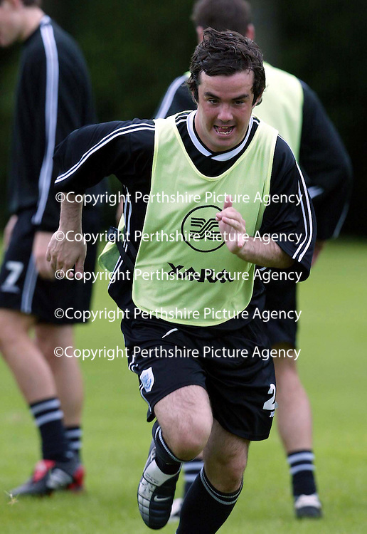 St Johnstone training...12.07.04<br />Stephen McConalogue<br /><br />Picture by Graeme Hart.<br />Copyright Perthshire Picture Agency<br />Tel: 01738 623350  Mobile: 07990 594431
