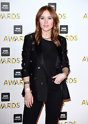 Angela Scanlon attending the BBC Music Awards at the Royal Victoria Dock, London.