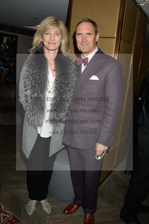 NICOLA FORMBY and AA GILL at a reception to celebrate the publication of The Shadow of The Crescent Moon by Fatima Bhutto at the Belgraves Hotel, 20 Chesham Place, London, on 2nd December 2013.
