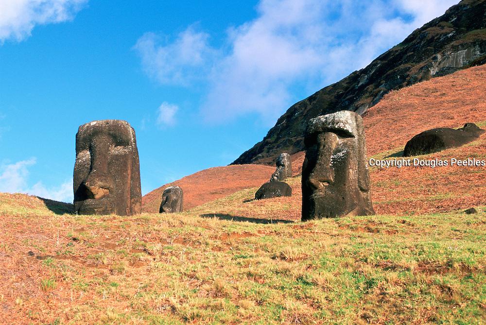 Rano Raraku, Moai (statue) quarry, Easter Island, Chile<br />
