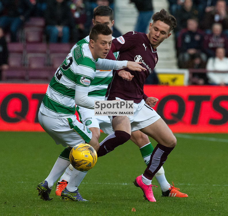 #42 Callum McGregor (Celtic) and #11 Sam Nicholson (Heart of Midlothian) ¥ Heart of Midlothian v Celtic ¥ Ladbrokes Premiership ¥ 27 December 2015 ¥ © Russel Hutcheson | SportPix.org.uk