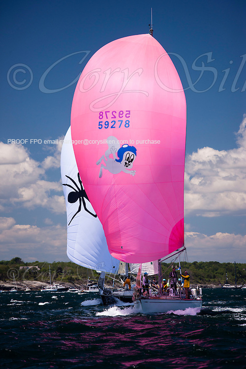 Rocket Squirrel sailing at the start of the 2012 Newport Bermuda Race.