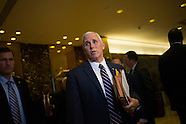 Manhattan: Mike Pence speaks to members of the media at Trump Tower, 18 Nov. 2016